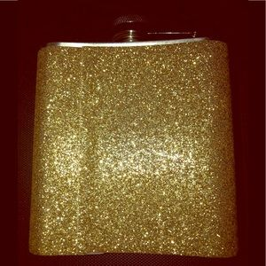 Other - Gold glitter flask